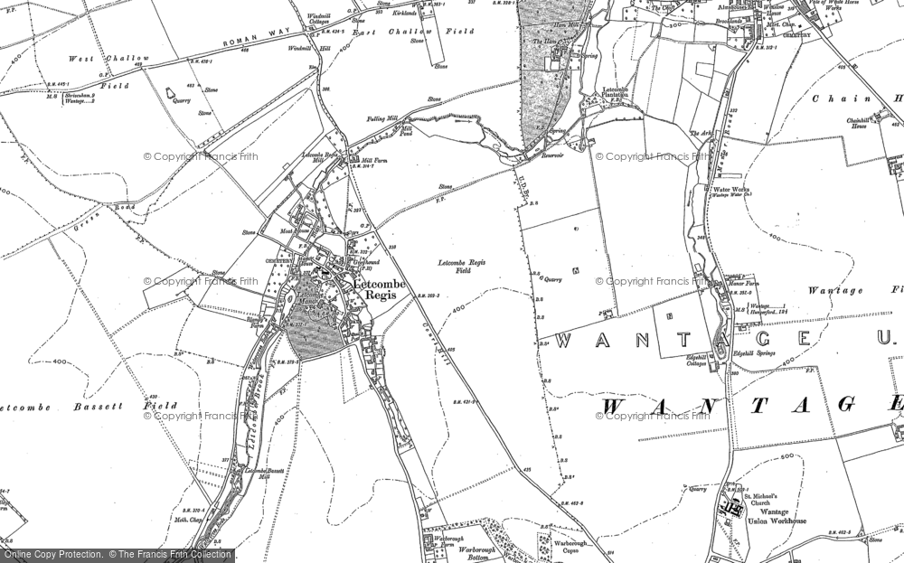 Old Map of Letcombe Regis, 1877 - 1910 in 1877
