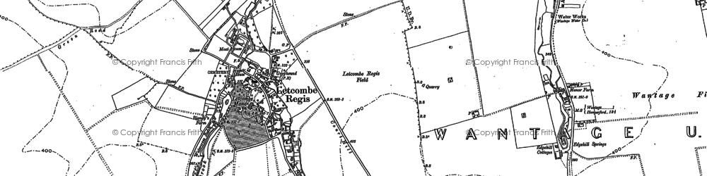 Old map of Antwicks Manor in 1877