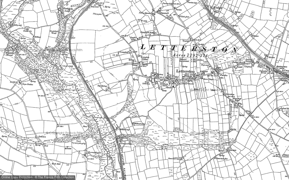 Old Map of Letterston, 1887 in 1887