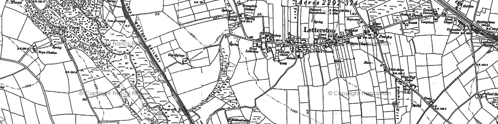 Old map of Letterston in 1887