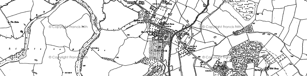Old map of Letton in 1886