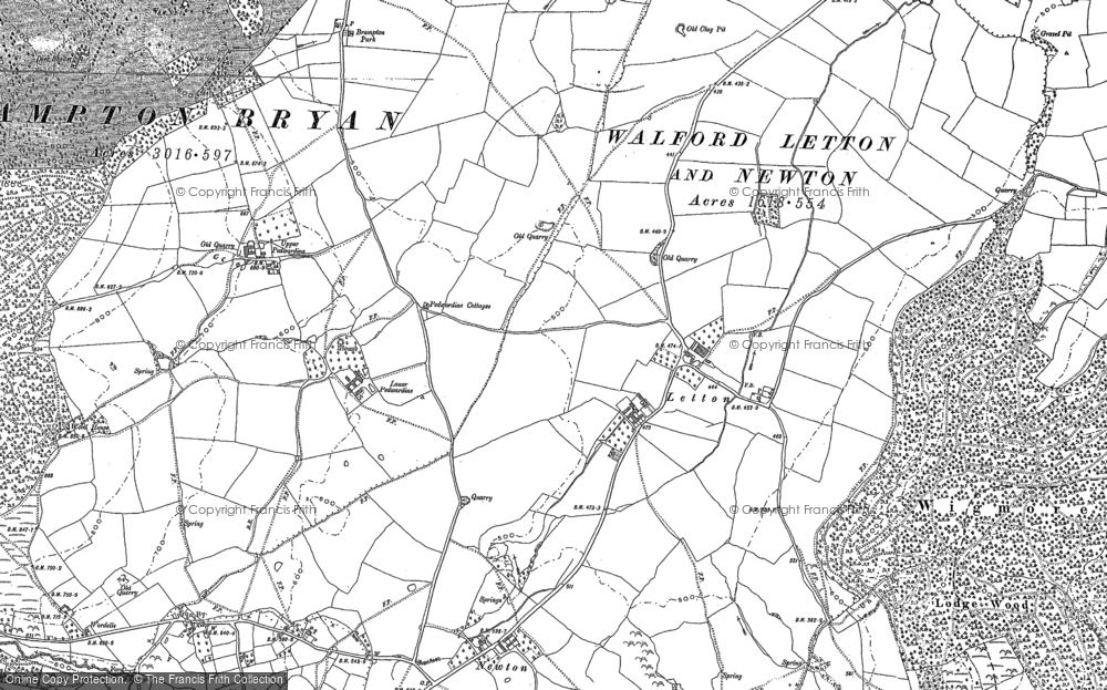 Old Map of Letton, 1902 in 1902