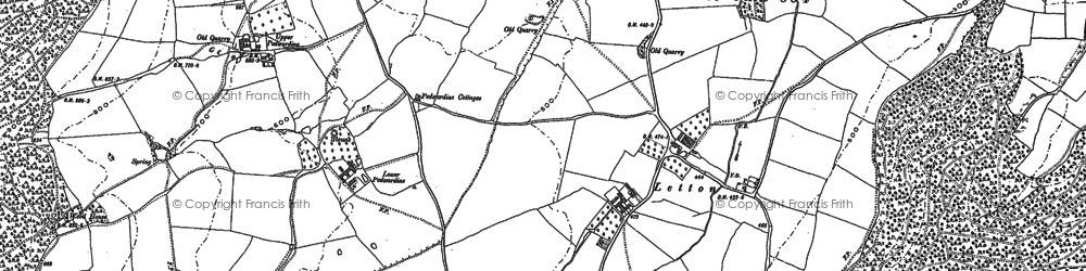 Old map of Wigmore Rolls in 1902