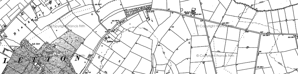 Old map of Letton Hall in 1882