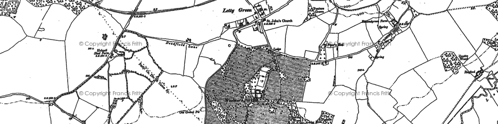 Old map of Letty Green in 1896