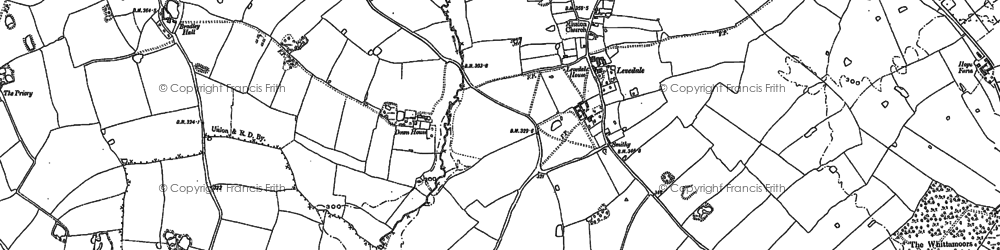 Old map of Whiston in 1882