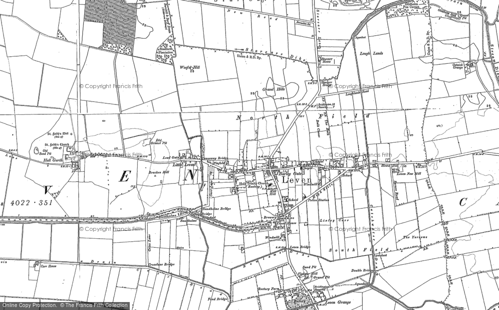 Old Map of Leven, 1850 - 1892 in 1850