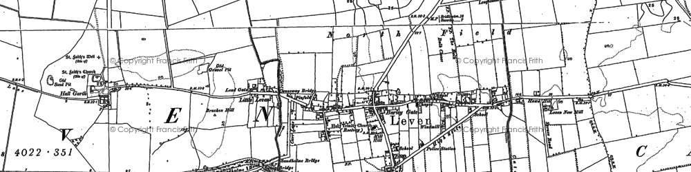 Old map of Leven in 1850