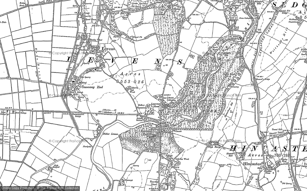 Old Map of Levens Hall, 1897 in 1897