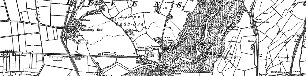 Old map of Levens Hall in 1897