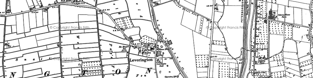 Old map of Leverington in 1900