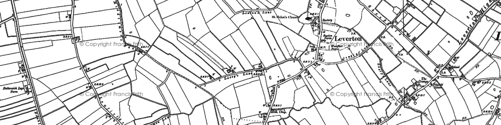 Old map of Leverton Lucasgate in 1887