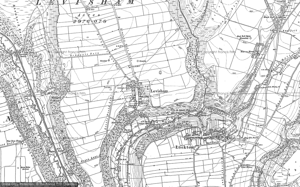 Old Map of Historic Map covering Levisham Beck in 1891