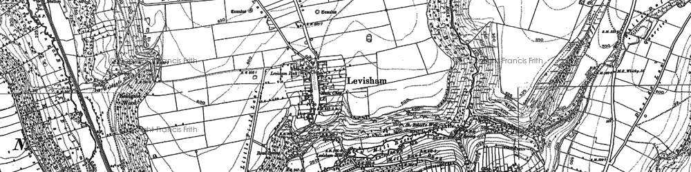 Old map of Levisham Beck in 1891