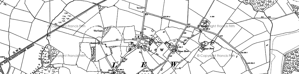Old map of Lew in 1898