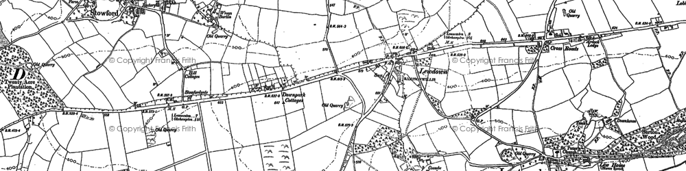 Old map of Wreys Barton in 1883
