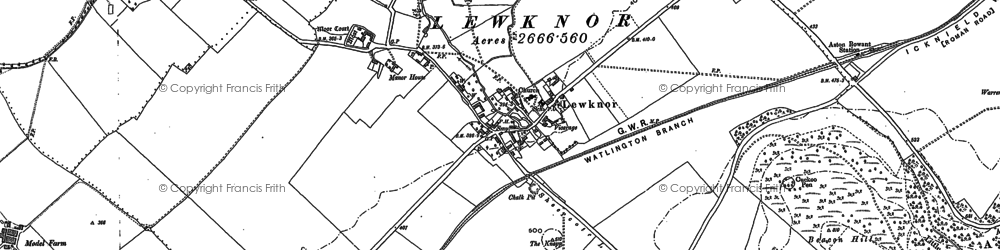Old map of Aston Rowant National Nature Reserve in 1897