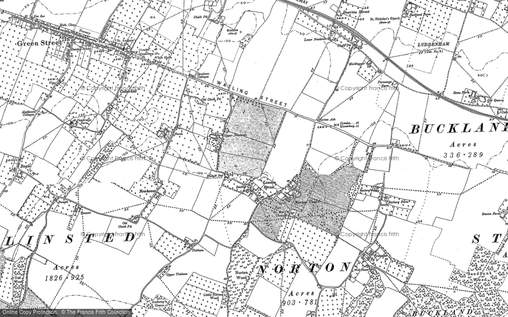 Old Map of Lewson Street, 1896 in 1896