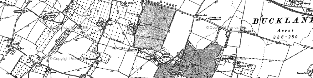 Old map of Tickham in 1896