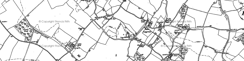 Old map of Austage End in 1897