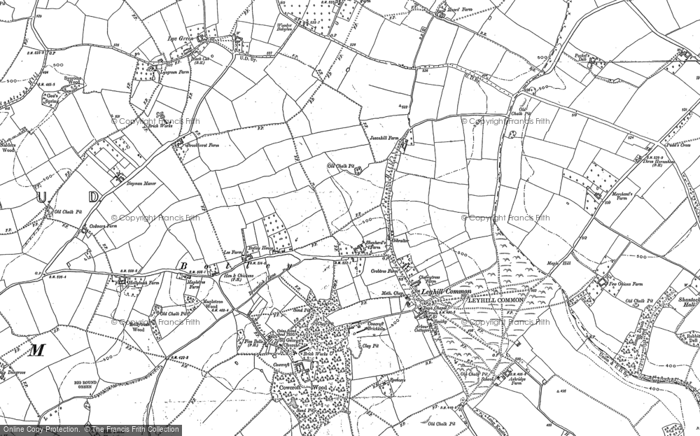 Old Map of Ley Hill, 1923 in 1923