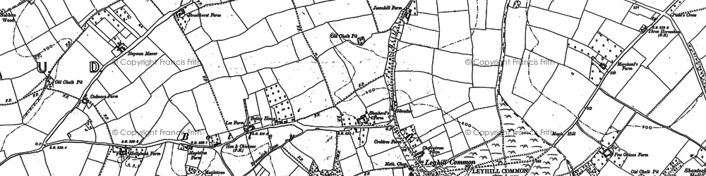 Old map of Botley in 1923