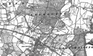 Old Map of Leybourne, 1895