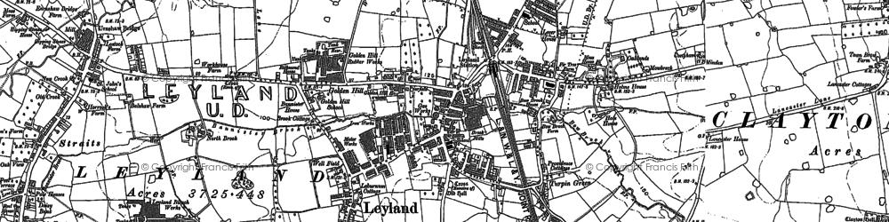 Old map of Worden Park in 1893