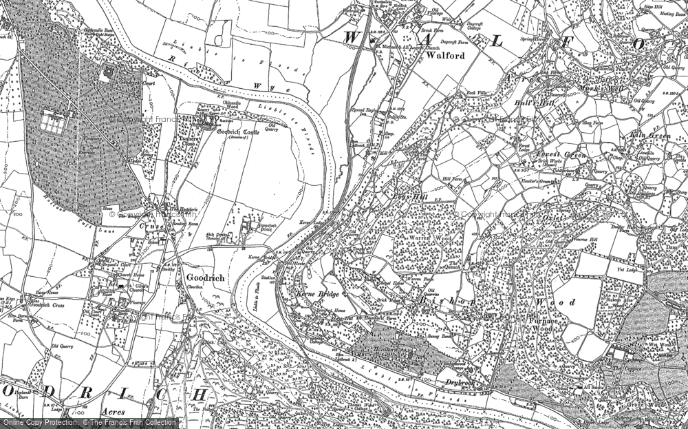 Old Map of Leys Hill, 1887 - 1903 in 1887
