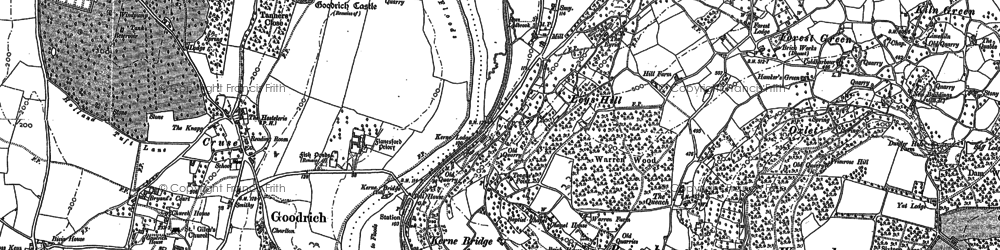 Old map of Leys Hill in 1887