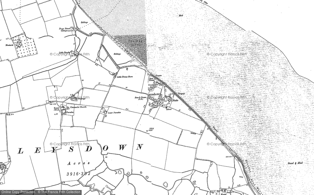 Old Map of Leysdown-on-Sea, 1906 in 1906