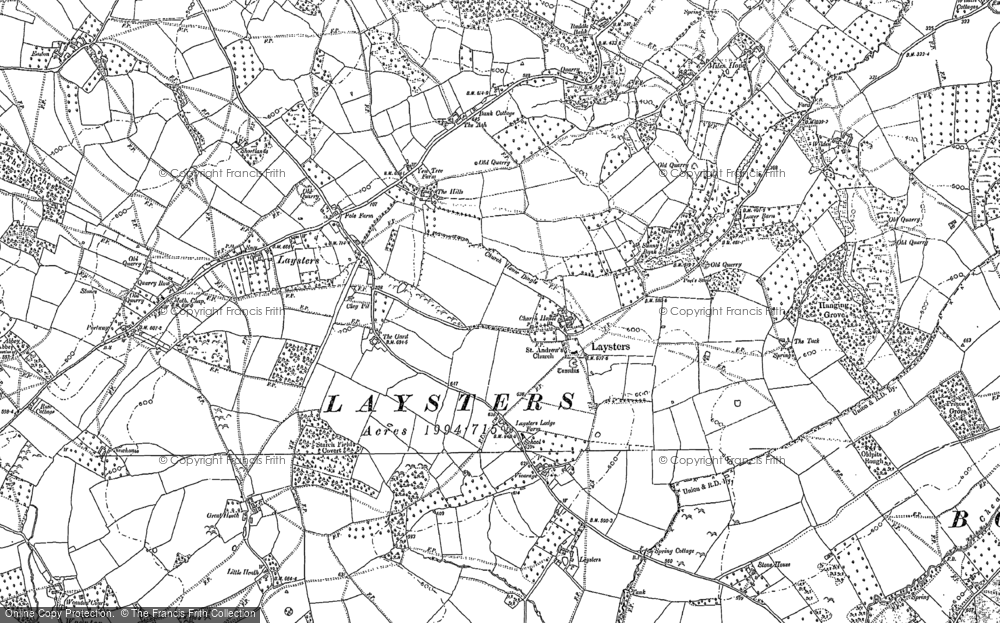 Old Map of Leysters, 1885 - 1902 in 1885