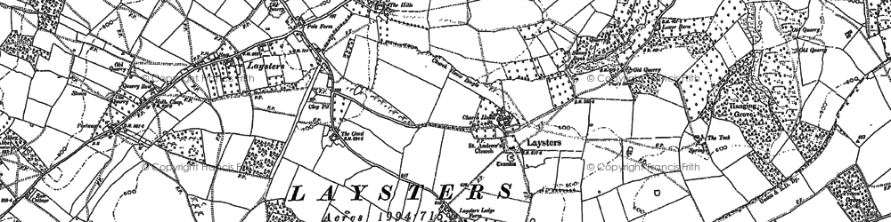 Old map of Woonton in 1885