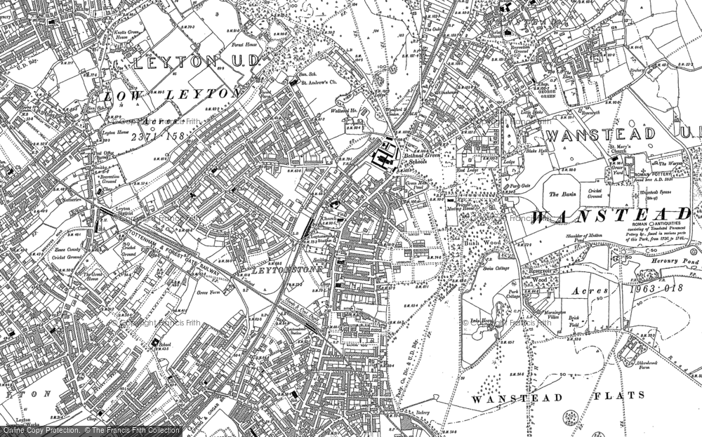 Map of Leytonstone, 1894 - 1895
