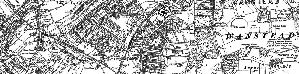 Old map of Aldersbrook in 1894