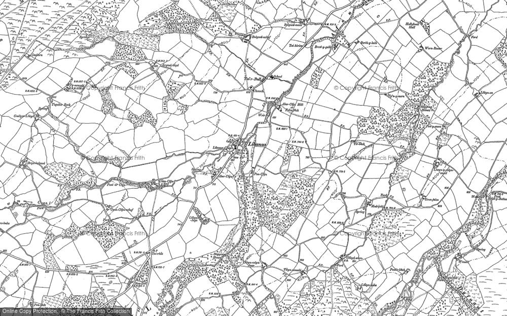 Old Map of Libanus, 1882 - 1886 in 1882
