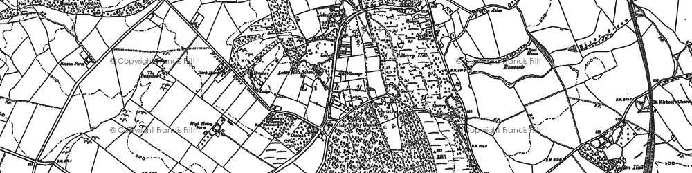 Old map of Lickey Hills in 1883