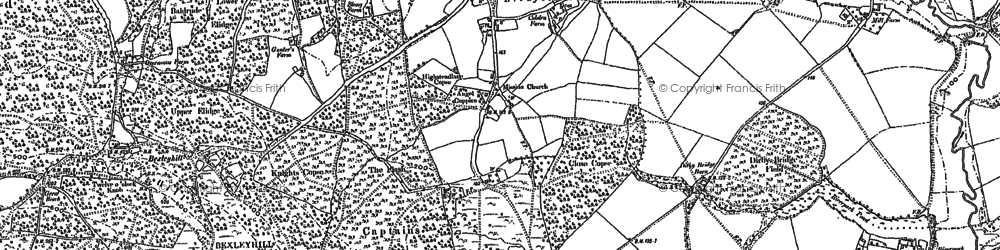 Old map of Lickfold in 1895