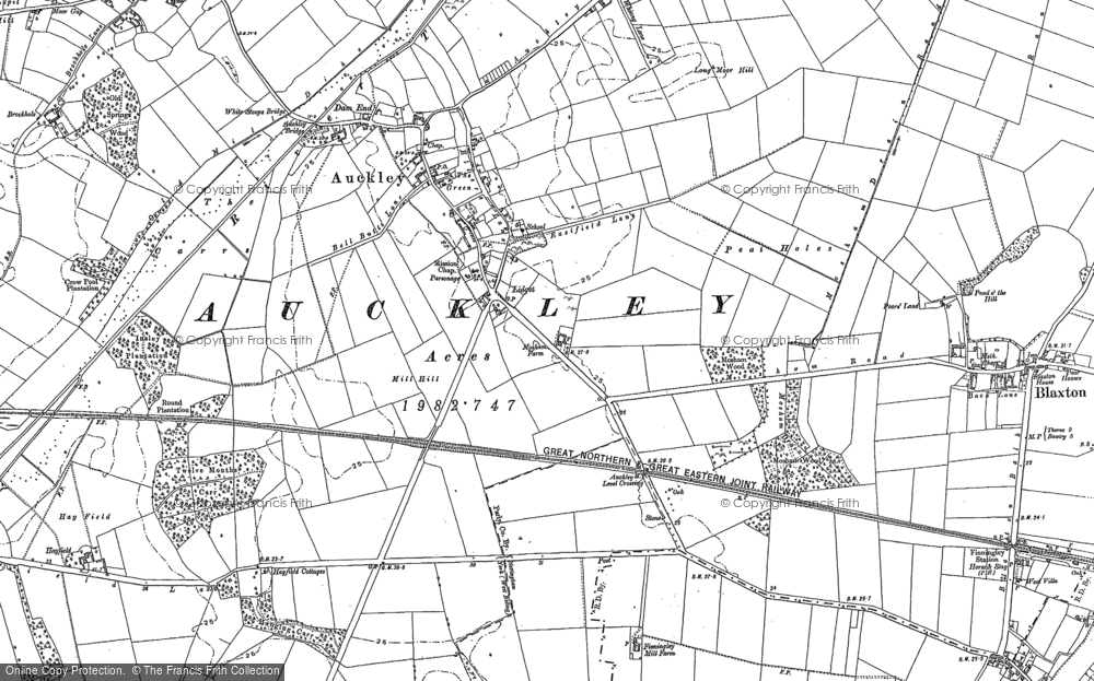 Old Map of Lidget, 1891 - 1901 in 1891