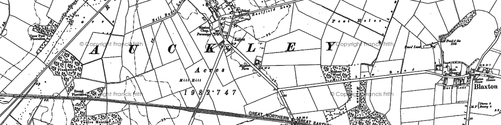 Old map of Lidget in 1891