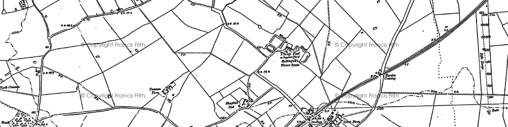 Old map of Bougton End in 1882