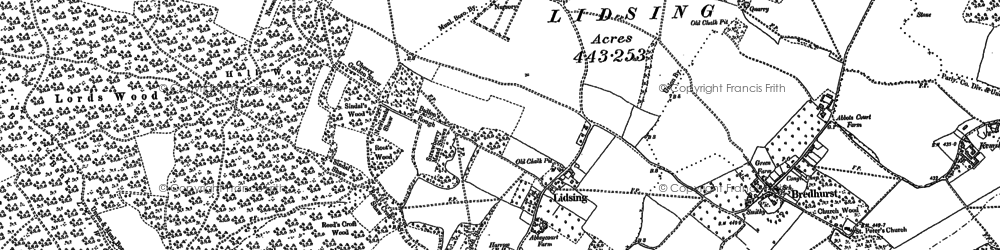 Old map of Lidsing in 1895