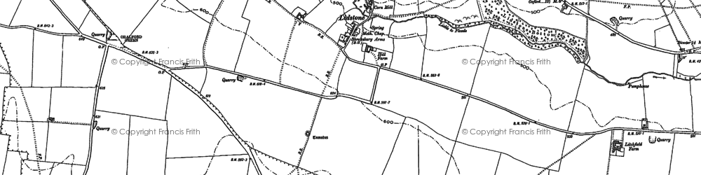 Old map of Lidstone in 1898