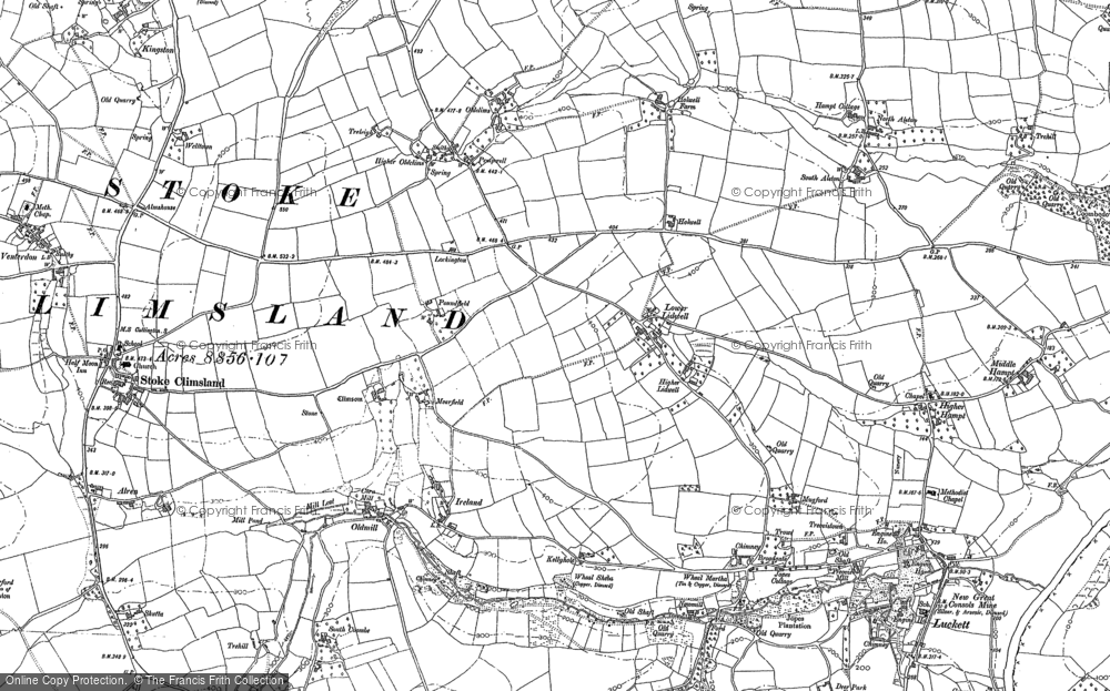 Old Map of Lidwell, 1905 in 1905