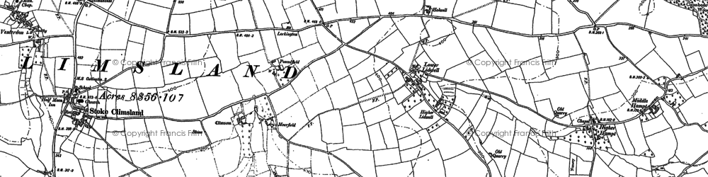 Old map of Lidwell in 1905