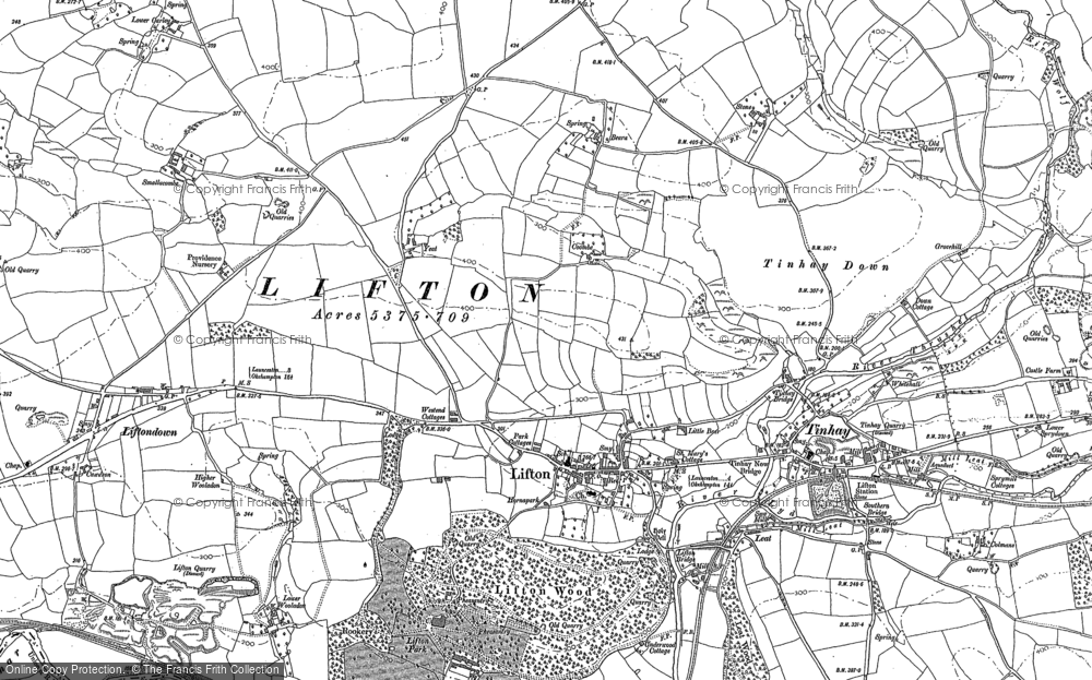Old Map of Lifton, 1883 - 1905 in 1883