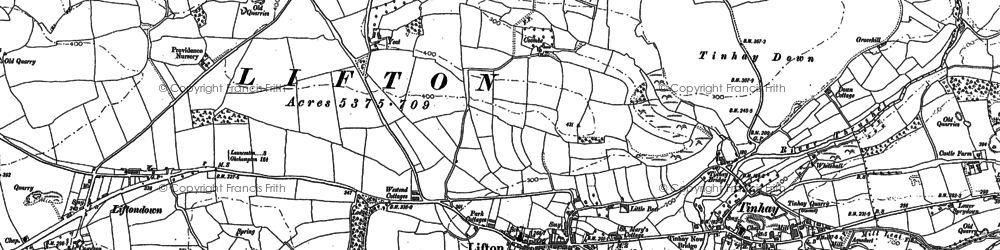 Old map of Wortham Manor in 1883