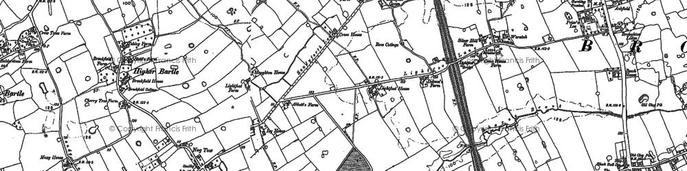 Old map of Woodplumpton Brook in 1892