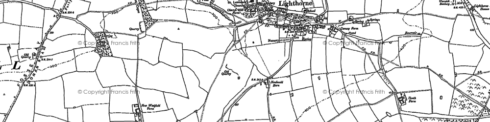 Old map of Lighthorne in 1885