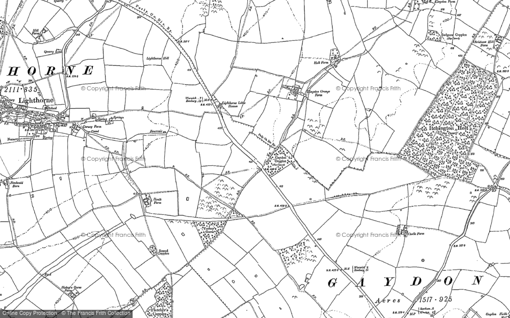 Old Map of Lighthorne Heath, 1885 - 1904 in 1885